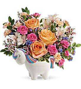 Teleflora's Magical Garden Unicorn Bouquet All Occasions
