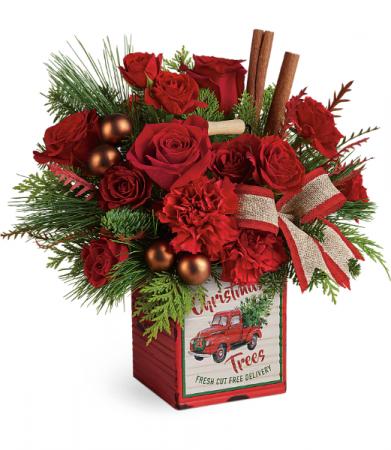 Teleflora's Merry Vintage Christmas Bouquet  Christmas