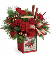 Merry Vintage Christmas Bouquet Christmas Arrangement