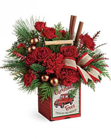 Teleflora's Merry Vintage Christmas Fresh Arrangement
