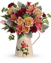 Teleflora's Mod Mademoiselle Bouquet Vase Arrangement