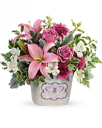 Teleflora's Monarch Garden Bouquet Vase Arrangement