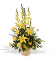 Teleflora's Monochromatic Yellow Arrangement