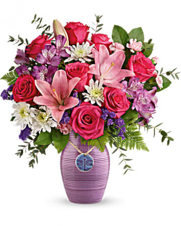 Teleflora's My Darling Dragonfly Bouquet Vase Arrangement