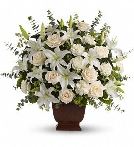 Teleflora's Noble Heritage Loving Lilies Fresh Arrangement in a Keepsake Urn