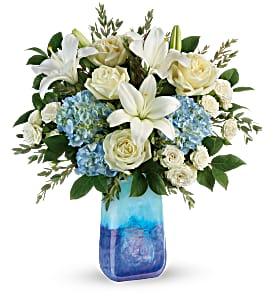 Teleflora's Ocean Sparkle Bouquet in Coral Springs, FL | DARBY'S FLORIST