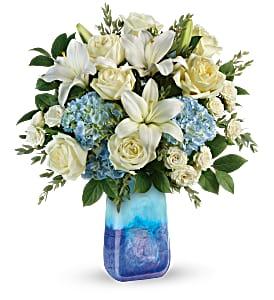 Teleflora's Ocean Sparkle Bouquet DX TEV57-2B