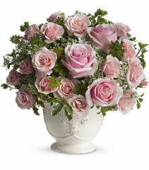 Parisian Pinks with Roses Fresh Vase