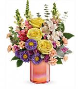 Teleflora's Peach Shimmer T20E305B Bouquet