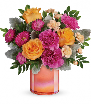 Teleflora's Perfect Spring Peach  in Livermore, CA | KNODT'S FLOWERS