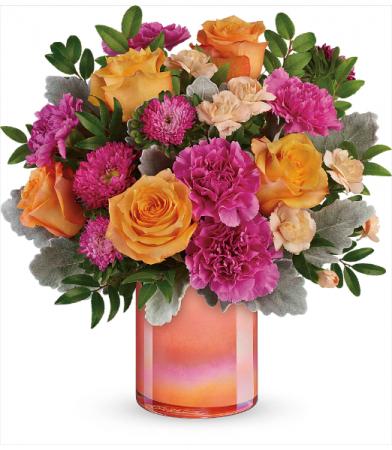 Teleflora's Perfect Spring Peach T20E300B Bouquet