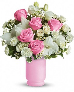 Pink and White Delight Rose Mix in Ventura, CA | Mom And Pop Flower Shop