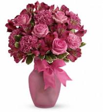 Teleflora's Pink Blush Vase arrangement