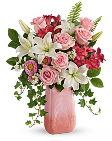 Teleflora's Pink n' Peach Paradise Bouquet