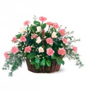 Teleflora's Pink Reverence Arrangement Sympathy Basket Arrangement
