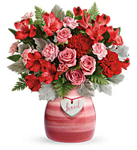 Teleflora's Playfully Pink Bouquet Not available until 1/15/2020