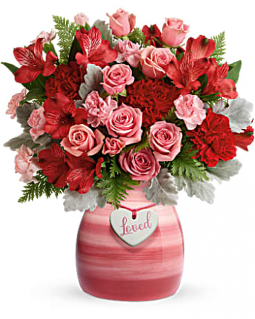 Teleflora's Playfully Pink Bouquet Valentine