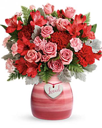 Teleflora's Playfully Pink Bouquet Vase Arrangement