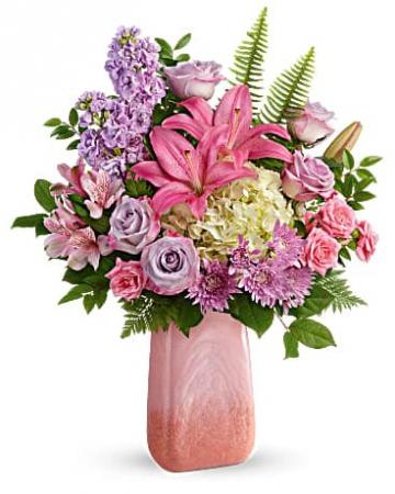 Teleflora's Pleasing Pastels Bouquet Vase Arrangement