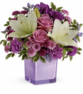 Teleflora's Pleasing Purple everyday