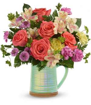 Teleflora's Pour On The Beauty Bouquet  in Livermore, CA | KNODT'S FLOWERS