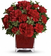 Teleflora's Precious Love Cube arrangement-fresh