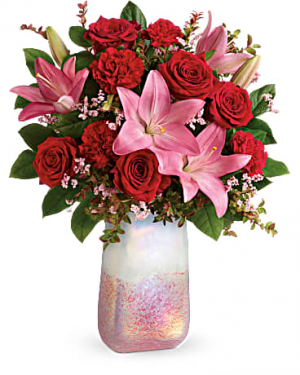 Teleflora's Pretty In Quartz Bouquet Fresh Arrangement Valentines in Plantation, FL | Pink Pussycat Flower and Gift Shop