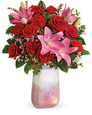 Teleflora's Pretty in Quartz Vase Arangement