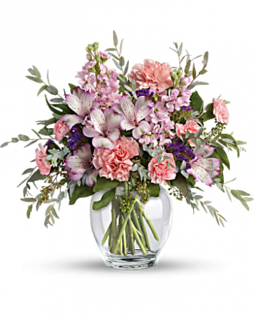 Teleflora's Pretty Pastel Bouquet Fresh Mixed Flower Arrangement