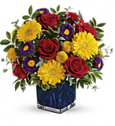 Teleflora's Pretty Perfect Bouquet Fresh Flowers in a Keepsake Cube