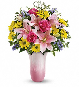 Teleflora's Pretty Petal Charm Vased Arrangement