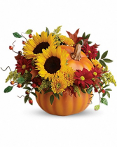 Teleflora's Pretty Pumpkin Bouquet Fresh Arrangement