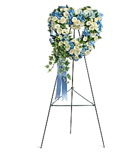 Teleflora's Pure Heart Wreath Standing Spray Sympathy