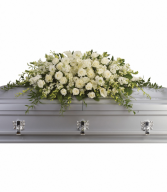 Teleflora's Purity And Peace Casket Spray