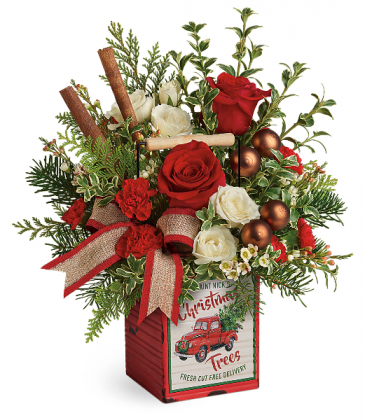 Teleflora's Quaint Christmas Bouquet Christmas Arrangement