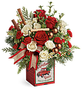 Teleflora's Quaint Christmas T19X605B Bouquet