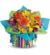 Teleflora's Rainbow Present T23-1A Bouquet