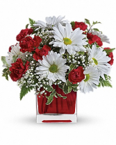 Teleflora's Red and White Delight Bouquet Arrangement