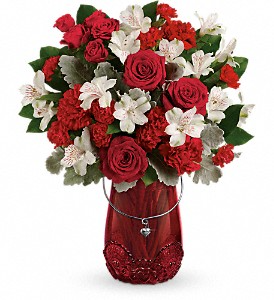 Teleflora's Red Haute Bouquet  in Valley City, OH | HILL HAVEN FLORIST & GREENHOUSE