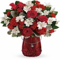 Teleflora's Red Haute Bouquet Arrangement