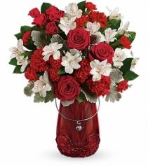 Telefloras Red Haute Vase