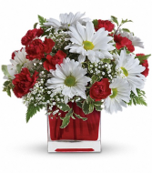 Red & White Delight Fresh Vase