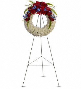 Teleflora's Reflections of Glory Wreath Standing Wreath