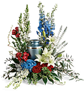 Teleflora's Reflections of Honor Cremation Tribute Sympathy in Auburndale, FL | The House of Flowers