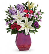 Teleflora's Regal Blossoms Fresh Flowers in a Keepsake Vase