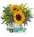 Teleflora's Retro Road Tripper Fresh Arrangement in a Keepsake Container