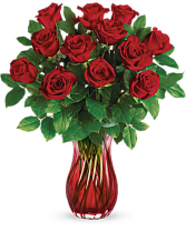 Teleflora's Romantic Twist Bouquet Fresh Arrangement