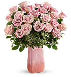 Teleflora's Rose Couture 2 Dozen Roses in Collectible Vase