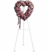 Teleflora's Rose Garden Heart Standing Heart Wreath