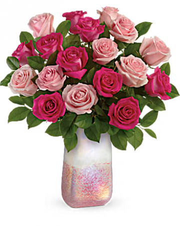 Teleflora's Rose Quartz Kisses Bouquet Fresh Arrangement